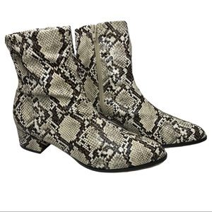 Matiko Anthropologie Jeanine Snake Ankle Boot Sz 9